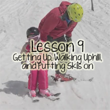 Teach Children Skiing Lesson 9